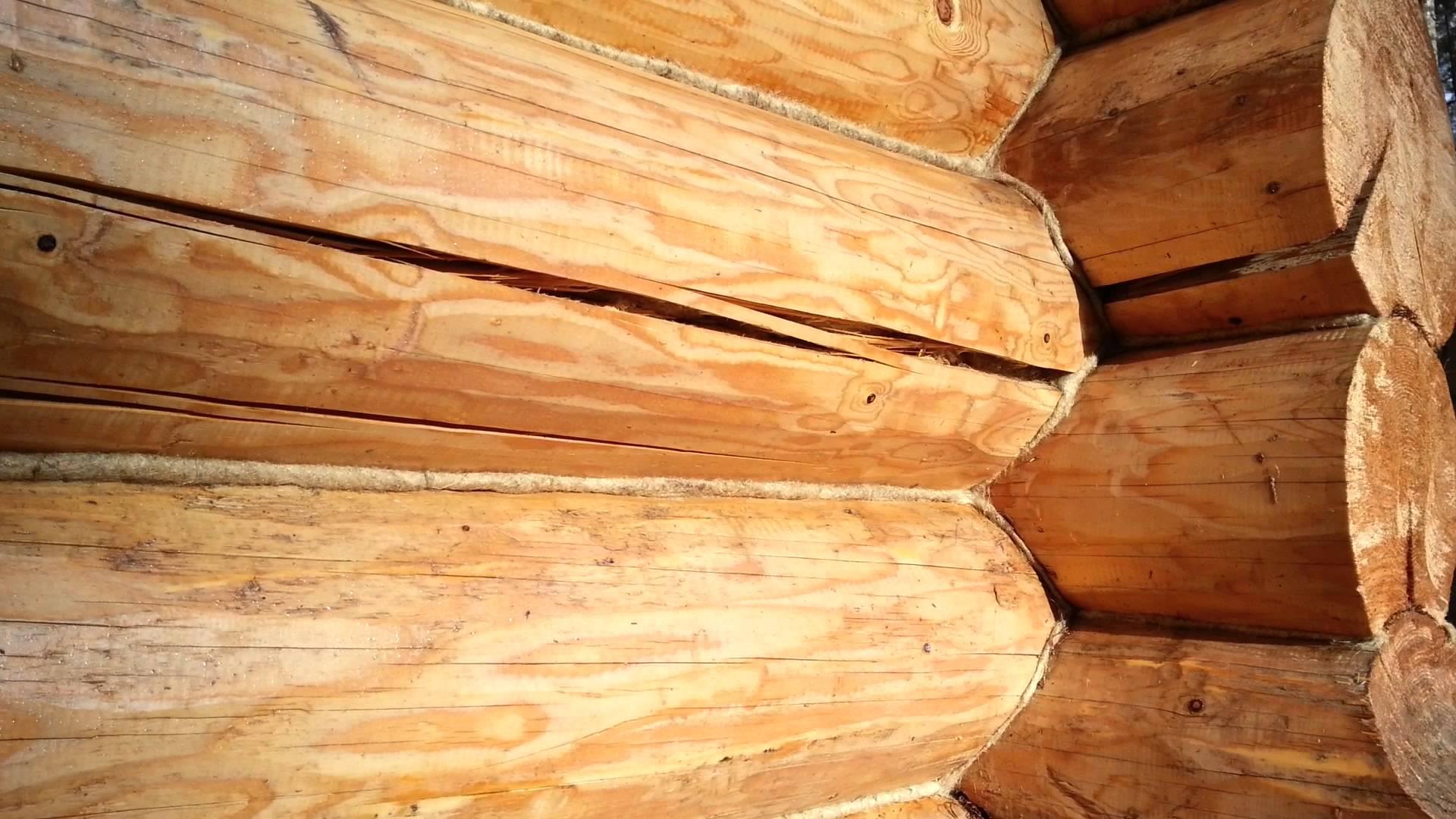 трещина в деревянном доме