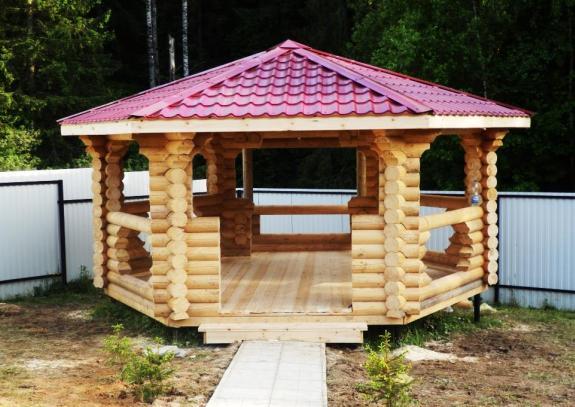 герметизация деревянной беседки